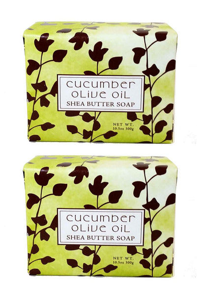 Cucumber Olive Scented Bar Soap 10.5 oz 2 Pack
