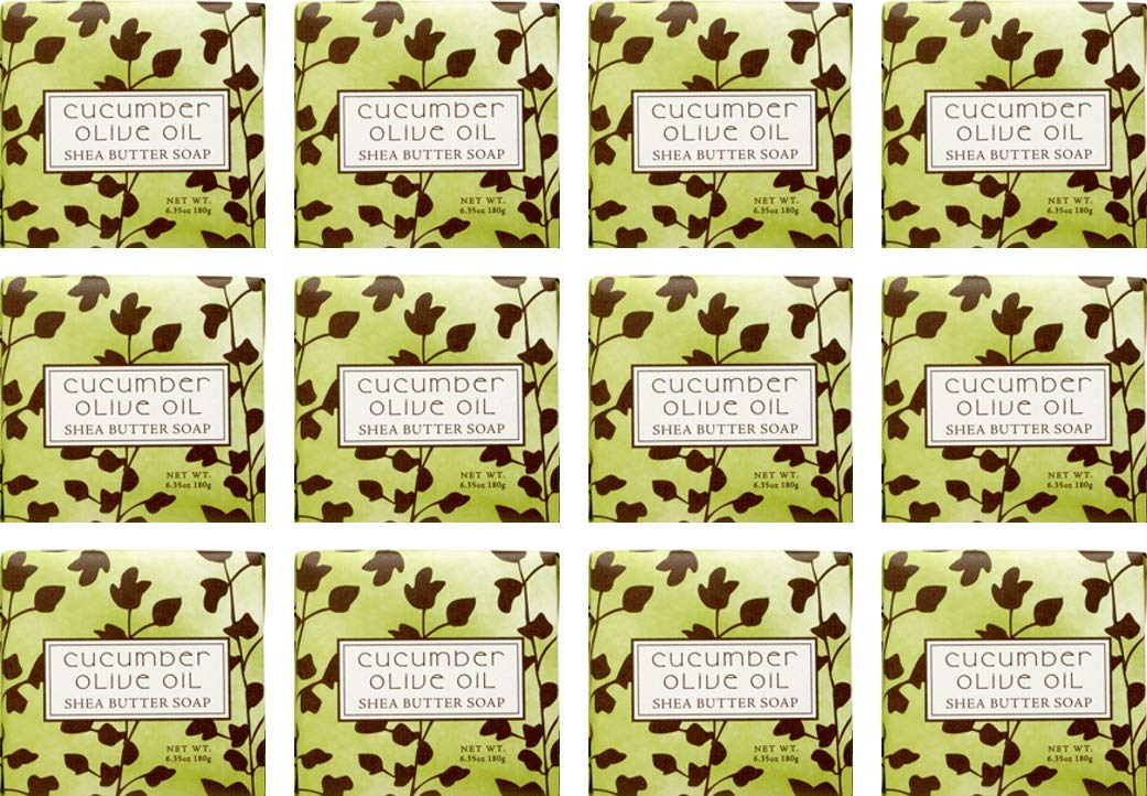 Cucumber Olive Scented Bar Soap 1.9 oz 12 Pack