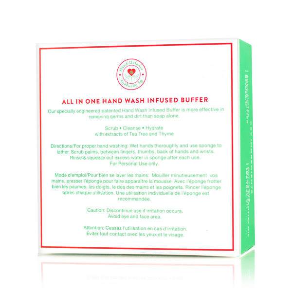 Hand Defense Hand Wash Buffer – Refresh (Thyme & Tea Tree) Back Of Box
