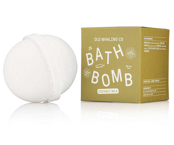 Coconut Milk Scented 8 oz Bath Bomb By Old Whaling Company