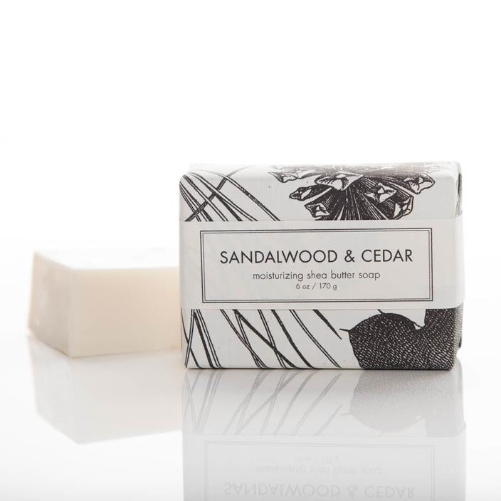 Sandalwood & Cedar Scented 6 oz Shea Butter Bar Soap By Formulary 55