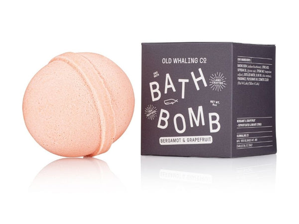 Bergamont & Grapefruit Bath Bomb By Old Whaling Company
