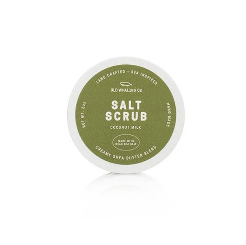 Coconut Milk Scented 2 oz Salt Scrub By Old Whaling Company
