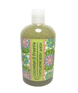 Cucumber & Freesia Scented Exfoliating Body Wash 16 oz By Greenwich Bay Trading