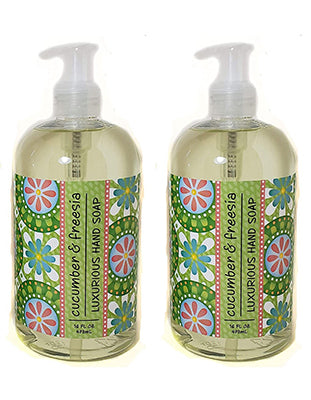 Cucumber & Freesia Scented Liquid Hand Soap 16 oz (2 Pack) By Greenwich Bay