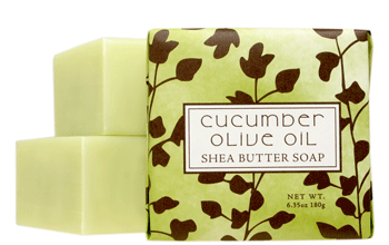 Cucumber Olive Scented Bar Soap By Greenwich Bay Trading Company