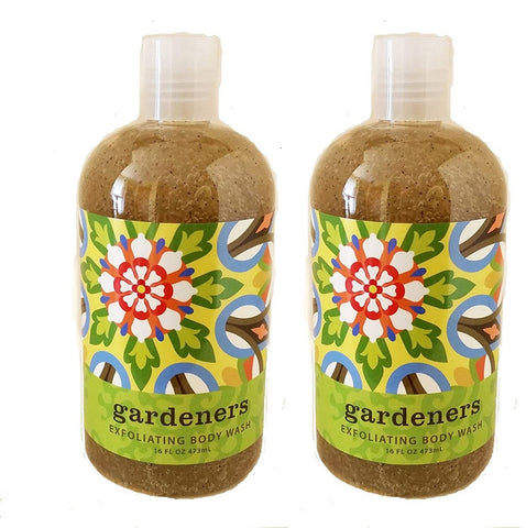 Gardeners  (Orange & Herbs) Scented Exfoliating Body Wash 16 oz (2 Pack)
