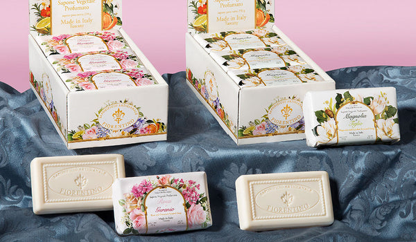 Rose and Geranium (Rosa e Geranio) Scented 8.81 oz Soap Bar Incontri Collection