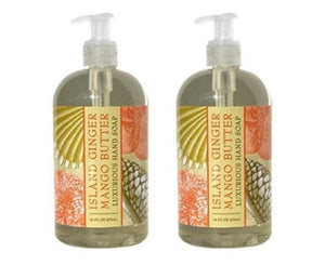 Island Ginger Mango Scented Liquid Hand Soap 16 oz (2 Pack)