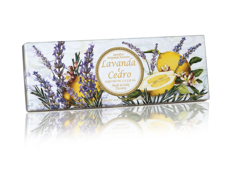 Lavender and Cedar (Lavanda e Cedro) Soap Set