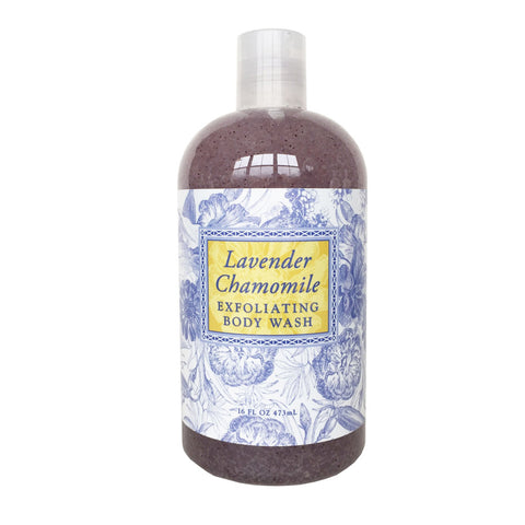 Lavender Chamomile Scented Exfoliating Body Wash 16 oz