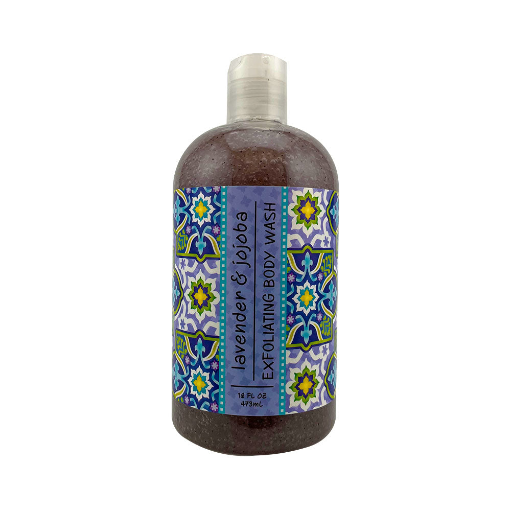 Lavender & Jojoba Scented Exfoliating Body Wash 16 oz