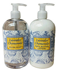 Lavender Chamomile Scented Liquid Hand Soap & Lotion Combo Pack 16 oz Each