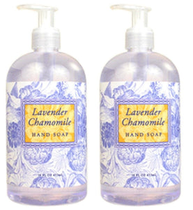 Lavender Chamomile Scented Liquid Hand Soap 16 oz (2 Pack)