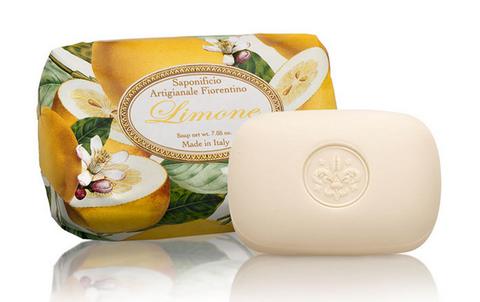 Saponificio Artigianale Fiorentino Sinfornia Di Agrumi Limone (Lemon) 7.05 Oz Soap Bar From Italy