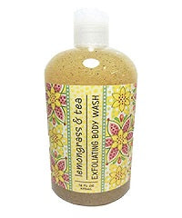 Lemongrass & Tea Scented Exfoliating Body Wash 16 oz