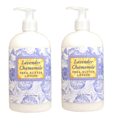 Lavender Chamomile Scented Shea Butter Lotion 16 oz ( 2 Pack)