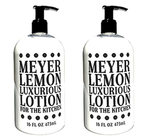 Meyer Lemon Scented Shea Butter Lotion 16 oz (2 Pack)