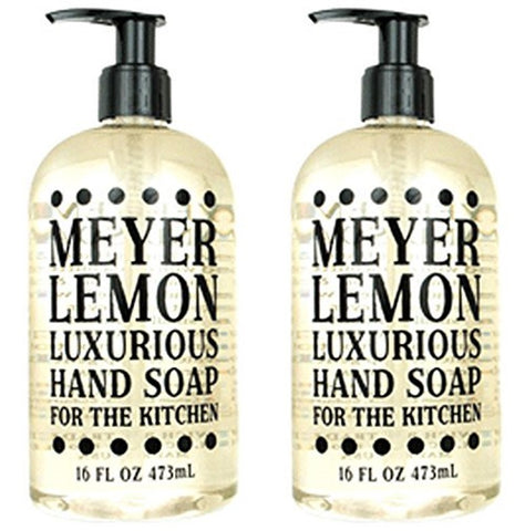 Meyer Lemon Scented Liquid Hand Soap 16 oz (2 Pack)