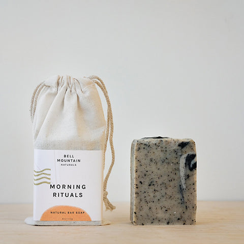 Morning Rituals (Coffee, Chocolate, Grapefruit) Scented Natural Bar Soap, 4 oz By Bell Mountain Naturals