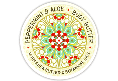 Peppermint & Aloe Scented Body Butter 8 oz