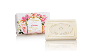 Rose and Geranium (Rosa e Geranio) Scented 8.81 oz Soap Bar By Saponificio Artigianale Fiorentino