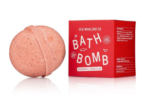 Seaberry & Rose Clay Scented 8 oz Bath Bomb By Old Whaling Company