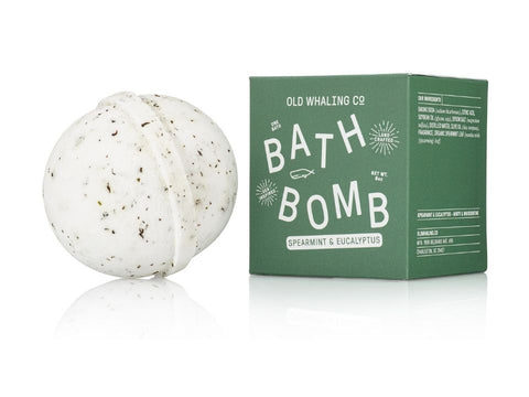 Spearmint & Eucalyptus Scented 8 oz Bath Bomb By Old Whaling Company