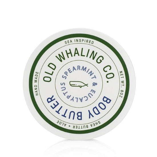 Spearmint & Eucalyptus Scented 8 oz Body Butter By Old Whaling Company