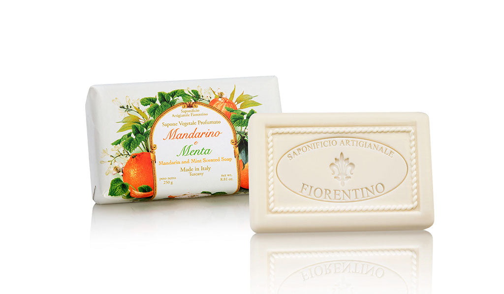 Mandarin and Mint (Mandarino e Menta) Scented 8.81 oz Soap Bar By Saponificio Artigianale Fiorentino