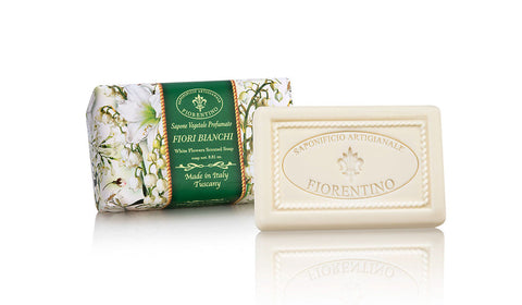 White Flowers (Fiori Bianchi) Scented 8.81 oz Soap Bar By Saponificio Artigianale Fiorentino