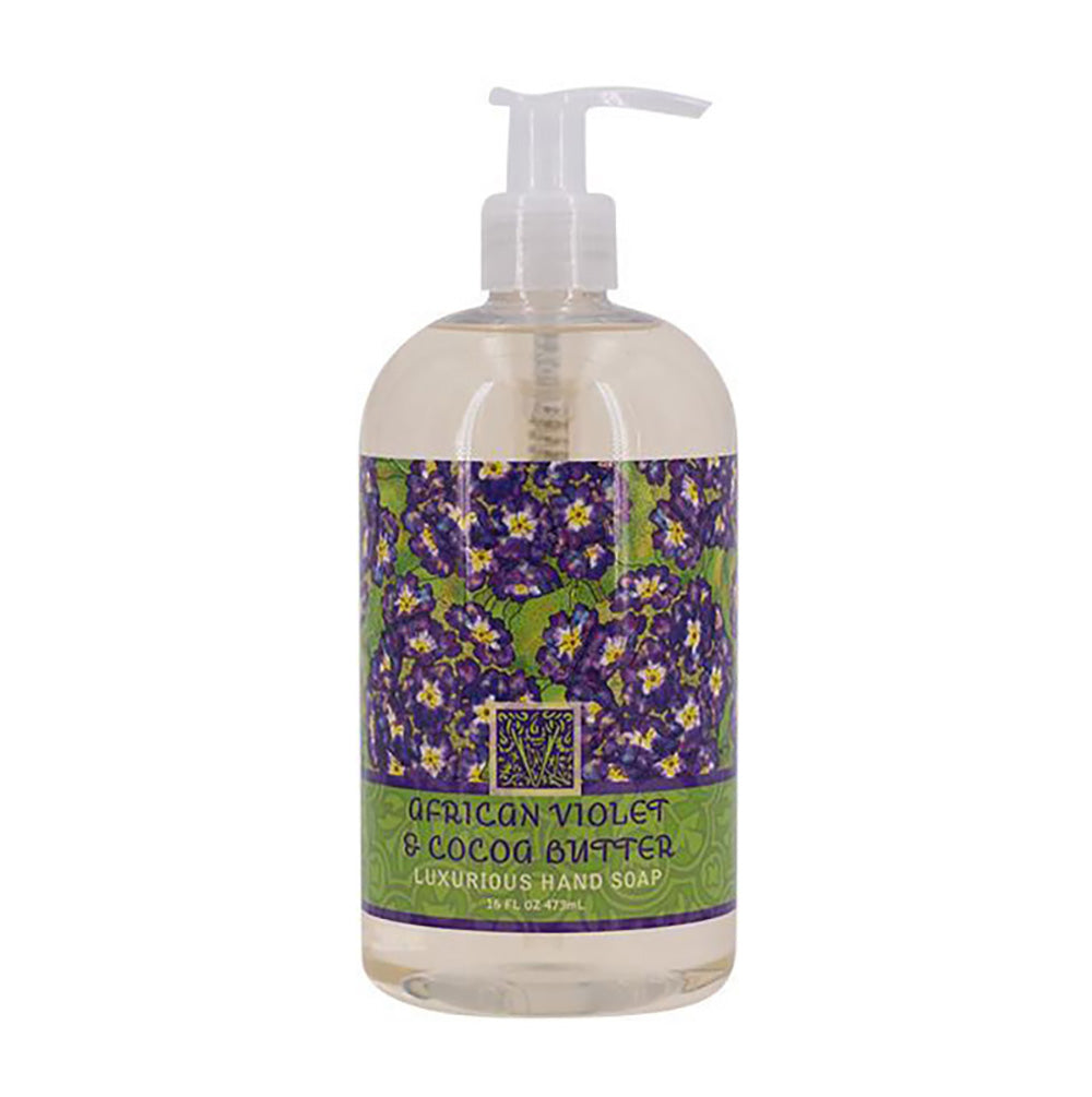 African Violet & Cocoa Butter Scented Liquid Hand Soap 16 oz