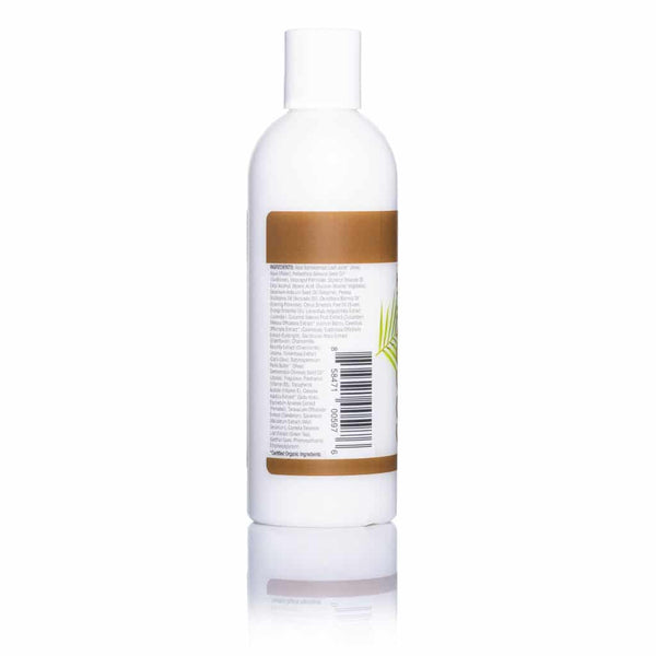 Coconut Scented 8 oz Body Lotion Back Of Bottle