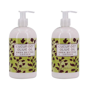 Cucumber Olive Oil Scented Shea Butter Lotion 16 oz (2 Pack)