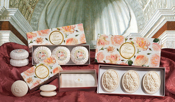 Rose Blossom Scented Set of 6 x 1.76 oz Round Soaps