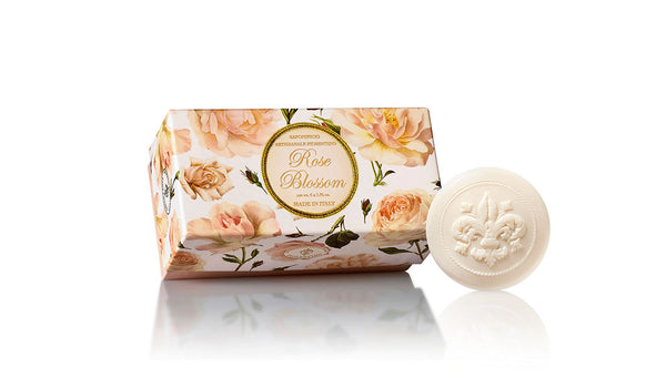 Rose Blossom Scented Set of 6 x 1.76 oz Round Soaps By Saponificio Artigianale Fiorentino