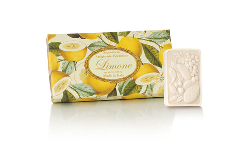 Lemon (Limone) Scented Set of 3 x 4.40 oz Rectangular Soaps By Saponificio Artigianale Fiorentino