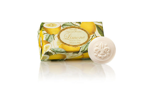 Lemon (Limone) Scented Set of 6 x 1.76 oz Round Soaps By Saponificio Artigianale Fiorentino