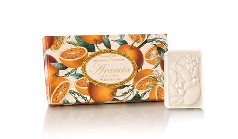 Orange (Arancia) Scented Set of 3 x 4.40 oz Rectangular Soaps By Saponificio Artigianale Fiorintiono