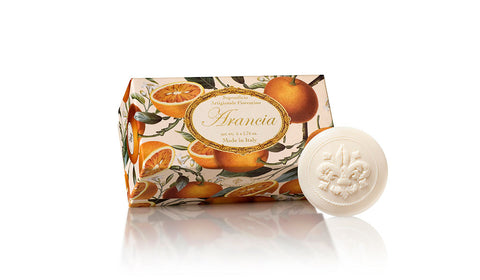Orange (Arancia) Scented Set of 6 x 1.76 oz Round Soaps By Saponificio Artigianale Fiorentino