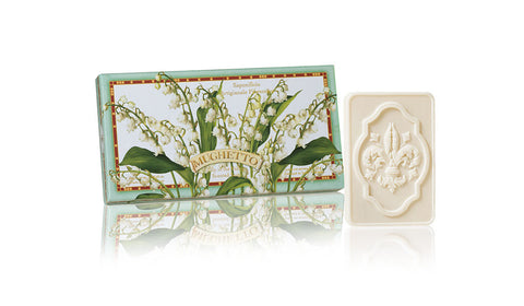 Lily of the Valley (Mughetto) Scented Set of 3 x 4.40 oz Rectangular Soaps By Saponificio Artigianale Fiorentino