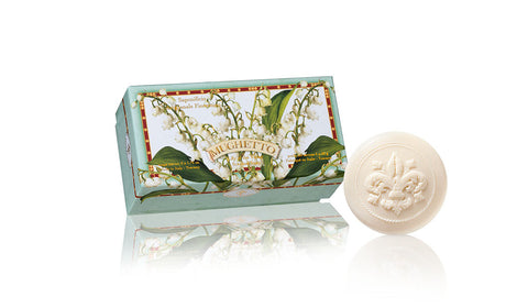 Lily of the Valley (Mughetto) Scented Set of 6 x 1.76 oz Round Soaps By Saponificio Artigianale Fiorentino