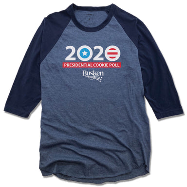 BUSKEN BAKERY | 2020 PRESIDENTIAL COOKIE POLL TEE 3/4 SLEEVE