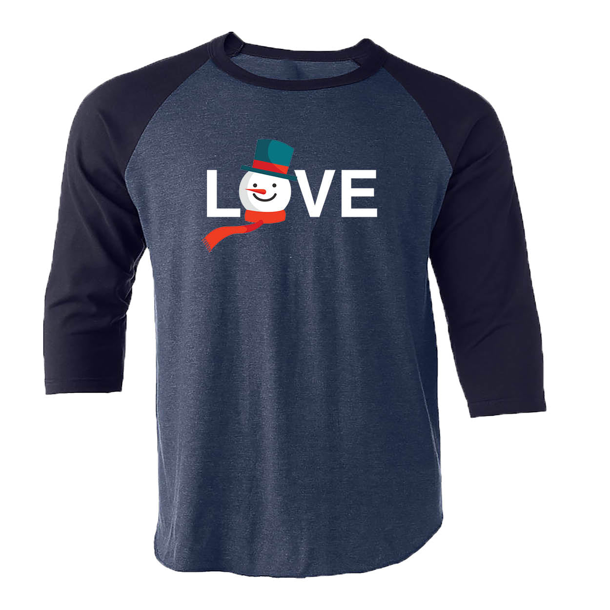 ALL STATES BLUE 3/4 SLEEVE | LOVE | SNOWMAN