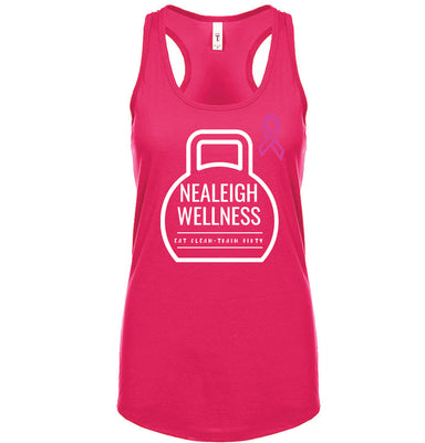 NEALEIGH WELLNESS | LADIES PINK TANK | WHITE LOGO