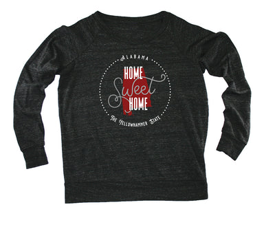 ALABAMA LADIES SLOUCHY | HOME SWEET HOME | CRIMSON/GRAY