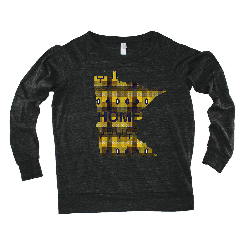MINNESOTA LADIES' SLOUCHY | HOME | SWEATER PURPLE/GOLD
