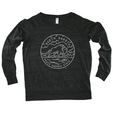 NORTH DAKOTA LADIES' SLOUCHY | STATE SEAL | PEACE GARDEN STATE