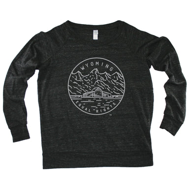 WYOMING LADIES' SLOUCHY | STATE SEAL | EQUAL RIGHTS
