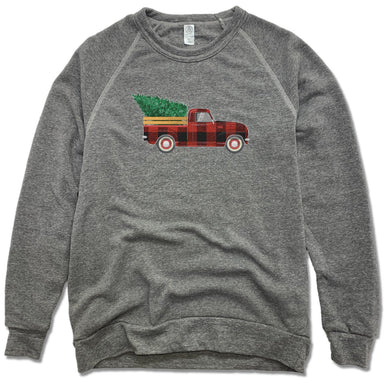 YOGA ON MAIN | FLEECE SWEATSHIRT | PLAID TRUCK